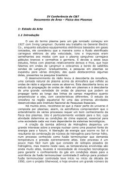 Física dos Plasmas - Sociedade Brasileira de Física