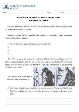 EXERCÍCIOS DE REVISÃO PARA O EXAME FINAL HISTÓRIA – 5ª
