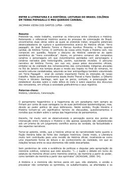 entre a literatura e a história - Associação de Leitura do Brasil