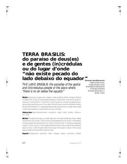 TERRA BRASILIS: do paraíso de deus(es) e de gentes (in