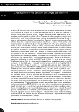 VIII Congresso da Sociedade Brasileira de Psicologia