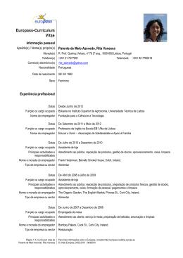 CV Detalhado - Rural Matters