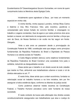 Excelentíssima Srª Desembargadora Socorro Guimarães