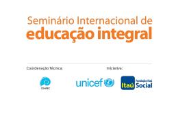Seminário Internacional de Educação Integral