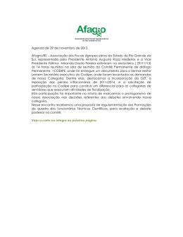 A Afagro/RS entrega carta com demandas da categoria ao CODIPE