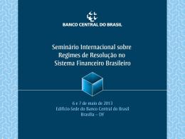 a apresentação - Banco Central do Brasil