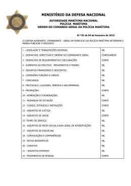 Despacho nº 3/15CGPM - Caraterização dos meios da PM