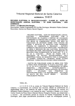 J - Tribunal Regional Eleitoral de Santa Catarina