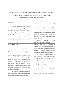 Perfil epidemiológico dos pacientes submetidos à cirurgia