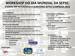 1° Workshop em Terapia Intensiva do Hospital Santa Isabel