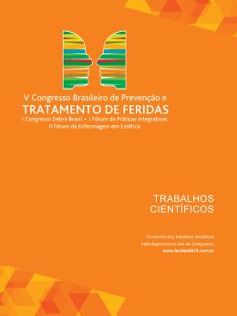 TRABALHOS CIENTÍFICOS - V Congresso Brasileiro de Tratamento