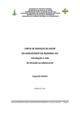 CARTA DE SERVIÇOS DE SAÚDE DO ADOLESCENTE
