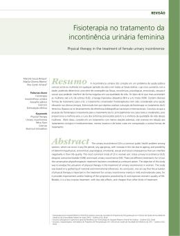 Fisioterapia no tratamento da incontinência urinária