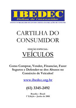 Cartilha do Consumidor - Veículos
