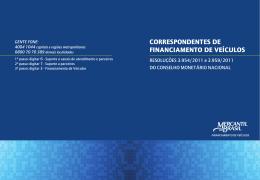 CORRESPONDENTES DE FINANCIAMENTO DE VEÍCULOS