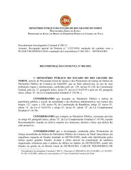Procedimento Investigatório Criminal nº 003/11 Assunto