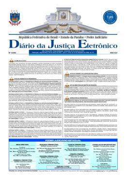 Nº 14.064 ANO XLV - Tribunal de Justiça da Paraíba