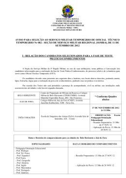 MINISTÉRIO DA DEFESA - Comando da 4ª Região Militar