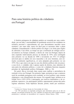 Para uma história política da cidadania em Portugal