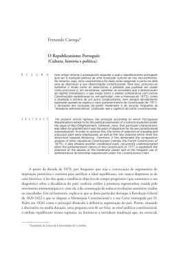 O republicanismo português : (Cultura, história e política)