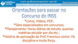 Apresentação do PowerPoint - Professor Francisco Júnior