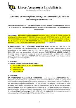 Contrato - Lince Imobiliaria Tijuca