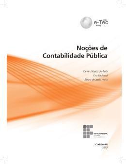 Noções de Contabilidade Pública - escola técnica aberta do piauí