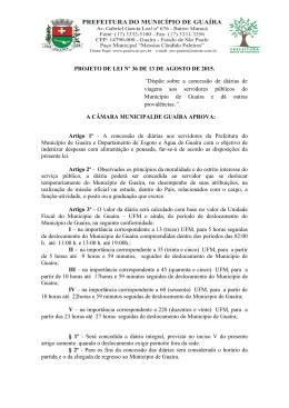 Projeto de lei número 36, de autoria do Poder Executivo que dispõe