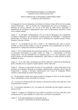 - ICEx - Universidade Federal Fluminense