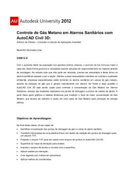 Controle de Gás Metano em Aterros Sanitários com AutoCAD Civil 3D: