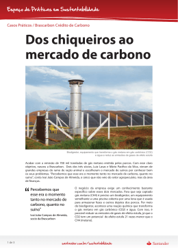 Dos chiqueiros ao mercado de carbono