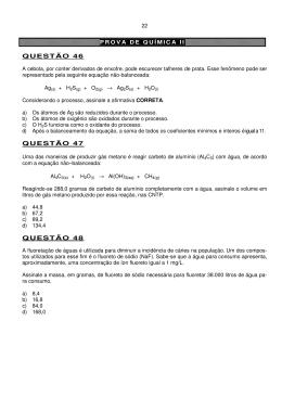 Química II - PUC Minas (Belo Horizonte, Betim e Contagem)
