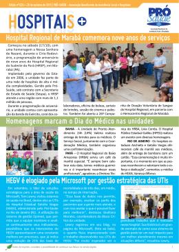 Hospital Regional de Marabá comemora nove anos de serviços