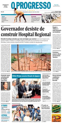 Governador desiste de construir Hospital Regional