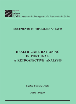 health care rationing in portugal. a retrospective analysis
