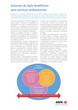 Soluções da Agfa HealthCare para serviços ambulatoriais
