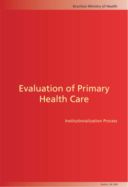 Evaluation of Primary Health Care