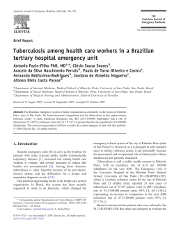Tuberculosis among health care workers in a Brazilian tertiary