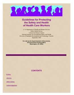 NIOSH/Health Care Workers Guidelines/Title Page