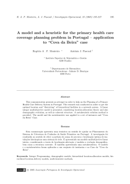 A model and a heuristic for the primary health care