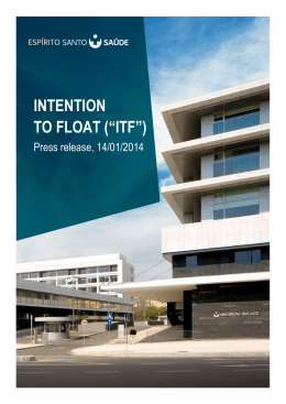 "INTENTION TO FLOAT (""ITF"")"