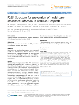 P265: Structure for prevention of healthcare