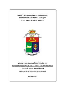 Normas de Avaliação - Escola Superior de Polícia Militar