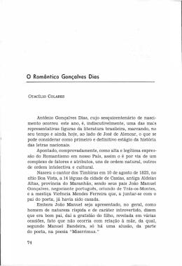 O Romântico Gonçalves Dias - Academia Cearense de Letras