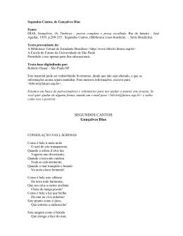 SEGUNDOS CANTOS Gonçalves Dias