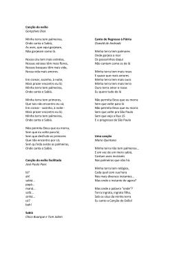 Canção do exílio Gonçalves Dias Minha terra tem palmeiras, Onde