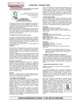 Apostila de literatura conteúdo 2° ano.
