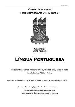 Língua Portuguesa - Universidade Federal da Paraíba