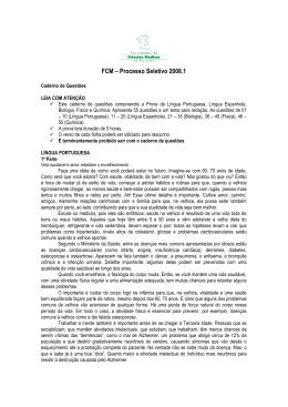 Prova 2008.1 - língua: Espanhol - Faculdade de Ciências Médicas