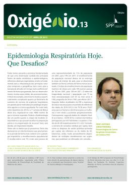 Oxigénio.13 - Sociedade Portuguesa de Pneumologia